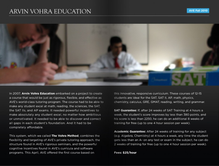 ave brochure 2 930x705 Arvin Vohra Education Brochure Design