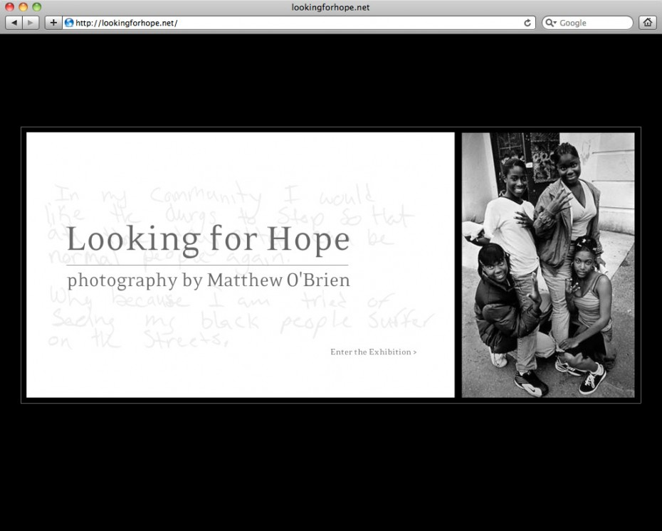 lookingforhope 930x746 Looking For Hope   An Online Exhibition