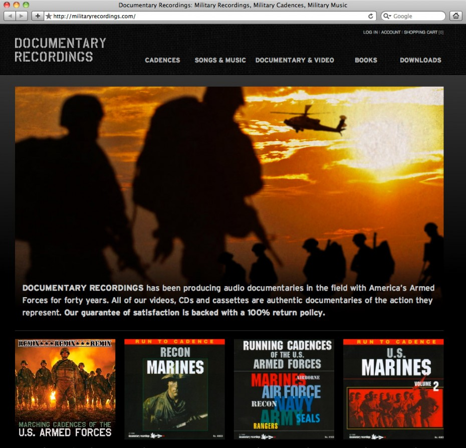 militaryrecordings1 930x894 Documentary Recordings Website Redesign and CD Packaging